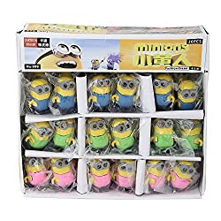 Aarvi Minions 3D Pencil Eraser Birthday Return Gift for Kids (Pack of 24 Pcs)
