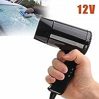 Dxlta Descongelador portátil de la ventana del secador de pelo que acampa plegable del coche caliente y frío 12V
