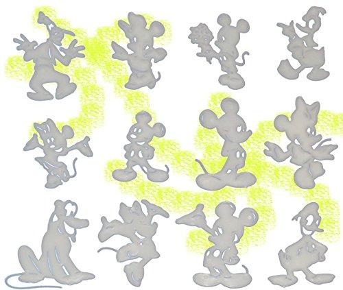 t:  Glow in The Dark !  - Leucht Figuren / Sticker -  Disney Mickey Mouse  - zum Hinhängen + Aufkleben / Wandtattoo / Fensterbild / Sticker - le.. ()