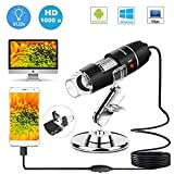 DigiHero USB Microscopio Digitale Endoscopio,1000 x Ingrandimento 1080p Mini Portatile Microscopio con...