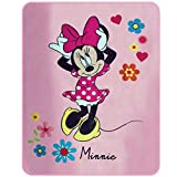 Disney Minnie 043683 Liberty Fleece Decke, Polyester, rosa, 110 x 140 cm