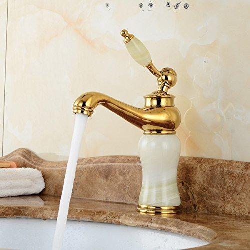 Kupfer-badewanne-eitelkeit (LDONGSH Im Europäischen Stil Gold Kupfer Heiß Und Kalt Retro Eitelkeiten Zeichnen Galvanisieren Waschbecken Badewannen Armaturen Wasserhahn)