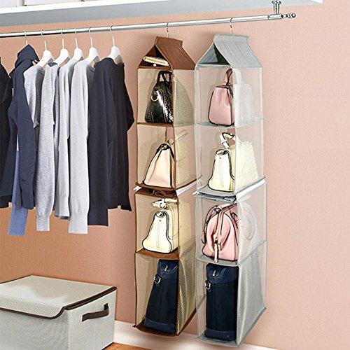 Multi scomparto organizer sacchetto appeso borsetta borsa della collezione salvaspazio armadi, supporto di immagazzinaggio organizzatori sistema per camera da letto