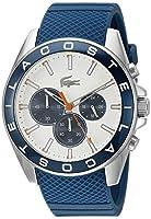 adidas Aberdeen - Reloj de cuarzo con correa de plástico para hombre, esfera multicolor, color azul de Lacoste