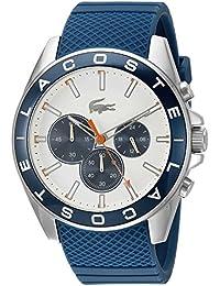 adidas Aberdeen - Reloj de cuarzo con correa de plástico para hombre, esfera multicolor, color azul