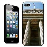 Fancy A Snuggle - Carcasa rígida para iPhone 5, diseño del Museo Británico de Londres con la bandera de Reino Unido