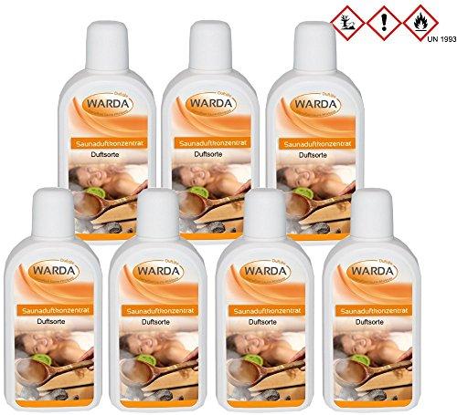 Saunaduftkonzentrat Set 7 x 200 ml + Proben (20 ml Saunaduft-Mentholkristalle-Saunasalz) - Saunaaufguss Saunaduft Aromaduft Sauna-duft-konzentrat