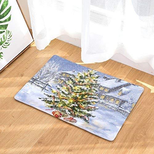 Alfombra para la puerta del árbol de Navidad