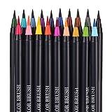 klinkamz 20 Farbstift Pinselset Premium Malerei Softtipp Marker nachfüllbar Aquarell Kunststifte