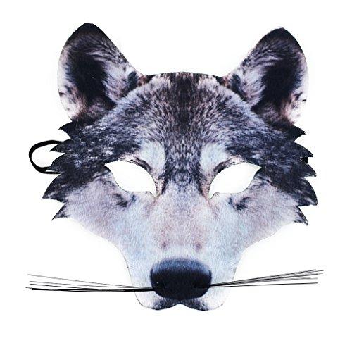 Kostüm Böser Hunde - Rappa Tolle, lebensechte Maske Wolf aus Stoff