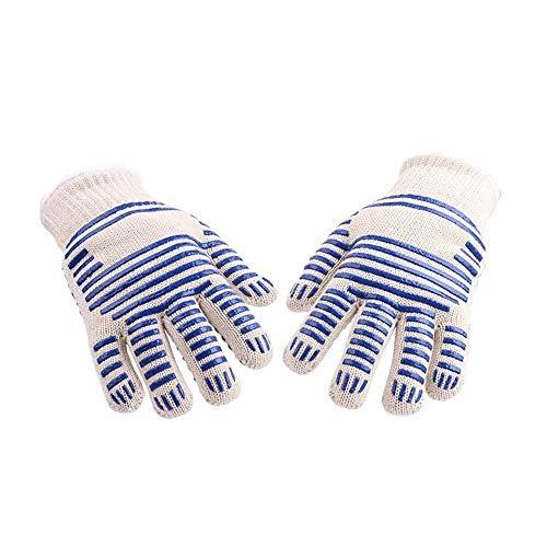 Wamlianer-Gloves Gartenhandschuhe Barbecue BBQ Isolierte hochtemperaturbeständige Handschuhe Die...