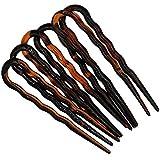 298-003 - Set 6 pezzi forcine per capelli ondulate cm 7 made in Italy - Mollette forcine per capelli e accessori chignon (Tar