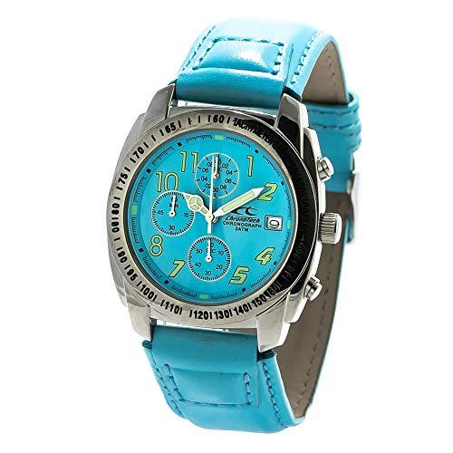 Chronotech orologio cronografo quarzo uomo con cinturino in pelle ct7451-01