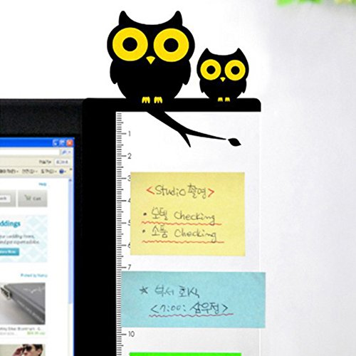 CLIUS Monitor Board Memo Note Message Board Holder Niedliche Seitenverkleidung Pad Screen Post(6Wie das Bild)