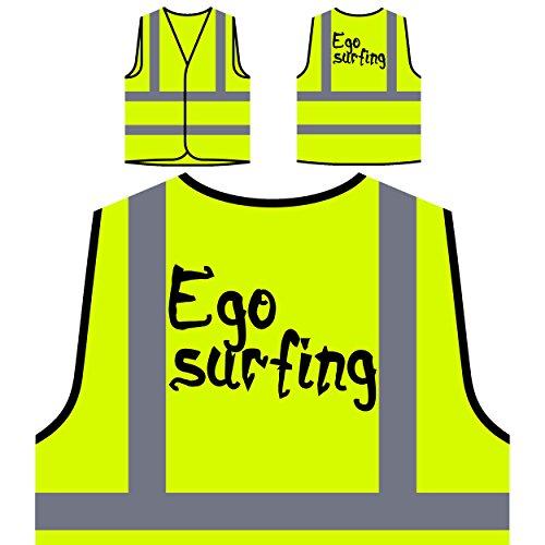 Ego Surfen Lustige Neuheit Personalisierte High Visibility Gelbe Sicherheitsjacke Weste d427v