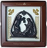Bronze Claddagh Krippe Plaque