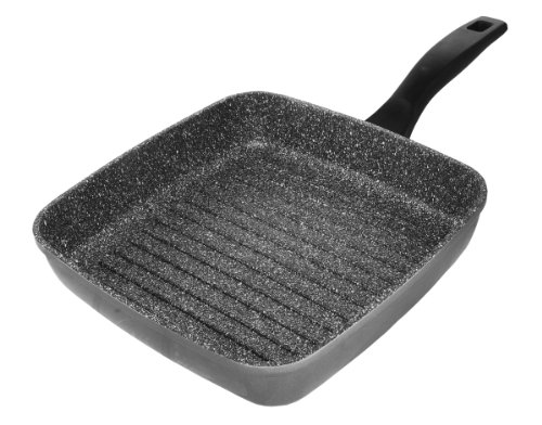 Stoneline 7515 Bistecchiera Quadrata in Alluminio, 26x26 cm, Rivestimento Antiaderente