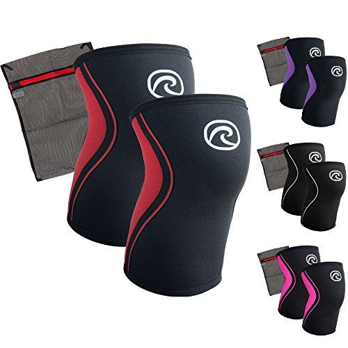 Rehband [1 Paar] 3 mm Neopren Kniebandage - Kniestütze + Ziatec Wäschenetz - CrossFit-Kniebandage - Kniegelenk-Bandage - Kniebandage-Krafttraining, Farbe:schwarz, Größe:XS - 1 Paar