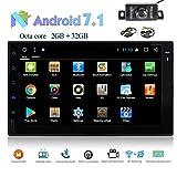 Android 7.1 OS Nougat Octa-Core 2 GB RAM + 32 GB ROM 1080P 1024 * 600 Doppel-DIN 7 Zoll Head Unit GPS-Navigations-FM / AM RDS Radio-EQ Display-3G / 4G WIFI OBD2 DAB + SWC Spiegel Link-Cam-In + Free Wirless hintere Kamera