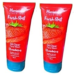 Himalaya Fresh Start Oil Clear Wash Strawberry, 50ml - Pack of 2