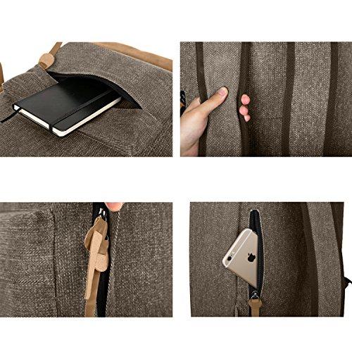 EcoCity Rucksack Wanderucksack Laptop Backpacks Unisex, Perfekt fuer Reise, Wandern und Fahrradfahren,BP0152B1 Kaffee