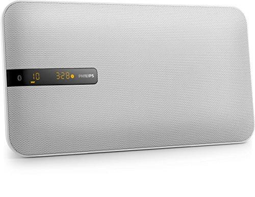 Philips BTM2660W Flat Stereoanlage mit Multipair (Bluetooth, UKW, Wandmontage, 20 Watt) weiß