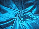 100% Pure Seide Dupionseide Stoff türkis blau x schwarz
