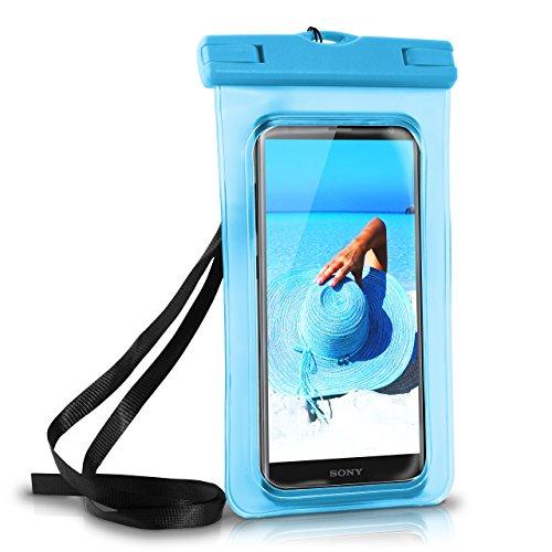 MoEx Wasserdichte Hülle für Sony | Full Cover in Blau OneFlow 360° Unterwasser-Gehäuse Touch Schutzhülle Water-Proof Handy-Hülle für Sony Xperia XA1 XZ2 Z5 Z3 Compact Z X A UVM Case Handy-Schutz