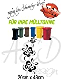 Recycling Design ***Schmetterlings-Ranke*** - Mülltonnenaufkleber/ Sticker/ Tattoo - frei wählbare Wunschfolienfarbe!