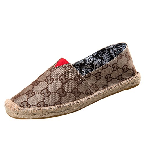Dooxii Unisex Hombre Mujer Amantes Ocasionales Loafer Zapatos Moda Planos Alpargatas 35(22.5cm)