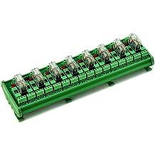 ELECTRONICS-SALON montaje en carril DIN fundido 8DPDT 5A alimentación del relé Módulo de interfaz, g2r-212V DC relé