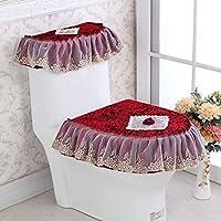 MEI Asiento del inodoro asiento asiento de tres piezas en forma de U engrosamiento de la cremallera cálida asiento del inodoro cojín ( Color : G )