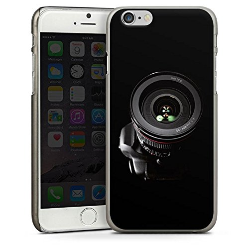 Apple iPhone 5s Housse Étui Protection Coque Photo reflex Objectif Photographie CasDur anthracite clair