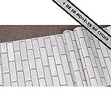 ANTEVIA Papier adhésif sticker mur meuble autocollant - 45cm x 500 cm (Briques Blanc)