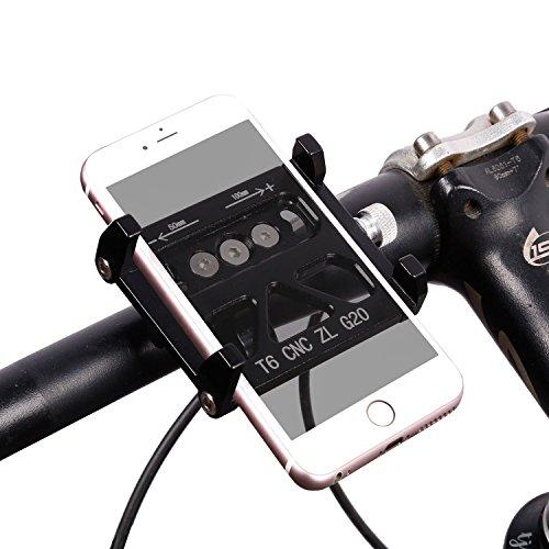 Sitz Grad 1 Polster (Fahrrad Phone Halter, West Radfahren Bike Mount für Mountain Road Lenker Zubehör für IOS iPhone 7Plus 6S Android Galaxy S7S6S5Smartphone, Kinder Herren damen, schwarz)