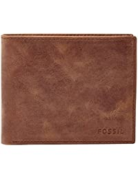 FOSSIL Hunter Large Coin Pocket Bifold Brown