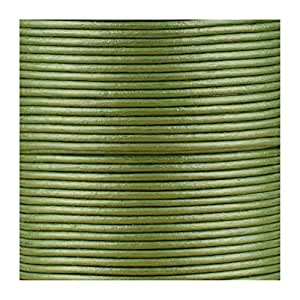 Jewellery of Lords 5 meters of Metallic Green 2mm High Quality Round Cord Real Leather String Lace Thong Jewellery Making
