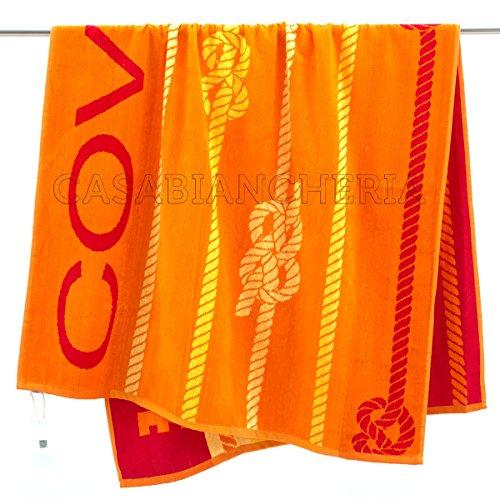 Telo mare enrico coveri knot-arancione