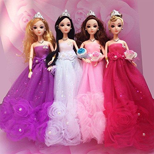 Zantec Wunderschöne Blume Perle Prinzessin Kleid Abendkleid Puppe Kleidung Outfit für 12