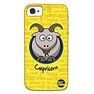 Designer Iphone 4S Case Cover Nutcase - - Star Signs - Capricorn Yellow