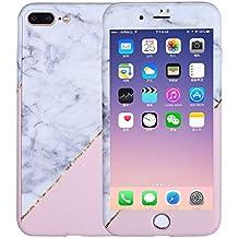 Funda protectora completa para iPhone SE iPhone 5S 5, xifanzi Rosa blanco Triángulo Patrón de mármol paragolpes [Película protectora de vidrio] Protección 360 ° Frontal y trasera Cuerpo completo Protección completa Híbrida Funda rígida de plástico para PC iPhone SE iPhone 5S 5 Funda protectora completa para Apple iPhone SE/iPhone 5/iPhone 5S