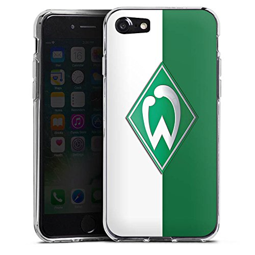 Apple iPhone 8 Plus Hülle Case Handyhülle Werder Bremen Fanartikel SV Bundesliga Fußball Silikon Case transparent