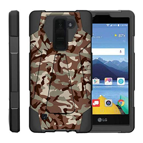 turtlearmor | Kompatibel für LG K8V Fall | LG K8V Fall | VS500[dynamisch Shell] Impact Proof Hard Ständer Hybrid Shock Silikon Cover Militär Krieg Armee Camo Design -, Armee Camouflage -
