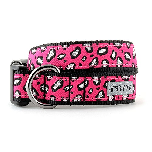 The Worthy Dog Cheetah Pink Halsband, Pink, XS -