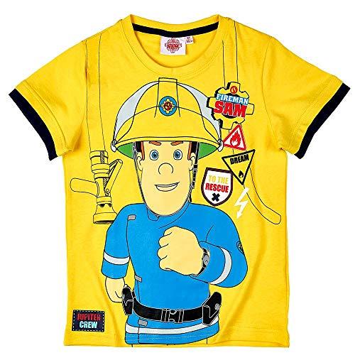 Pjs Nightwear Boys OFFICIAL LICENSED Pompiere Sam Pigiama
