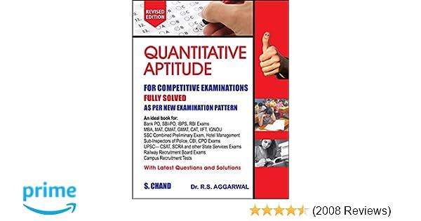 Buy Quantitative Aptitude for Competitive Examinations Book
