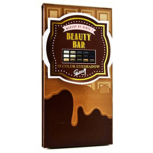 Gloss! Coffret Cadeau - Palette de Maquillage Forme Tablette de Chocolat Couleur aléatoire Caramel/Marron/Rose - 17pcs, Coffret Cadeau-Coffret Maquillage