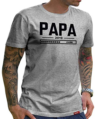 2fb37b2f26e HARIZ Herren T-Shirt Papa Collection 36 Designs Wählbar Grau Urkunde Papa06  Papa Loading 2019