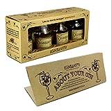 Ginsanity Gin Tasting, Geschmacksspektrum Trial Set in Geschenkbox, inkl. Broschüre und Anleitung (4 x 25ml) - Menu: Stone Monkey