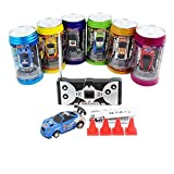 Cans type mini RC car with 4pcs roadbloc...